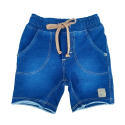 Bermuda Pull-Ga Masculina Jeans Azul