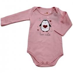 Body Bebe Kiko e Kika Rosa Pinguim