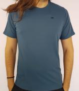 Camiseta Alto Giro Masculina Skin Fit Azul Noite
