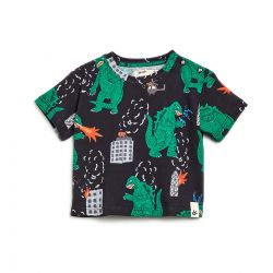 Camiseta Bento Masculina Dinossauros Preta