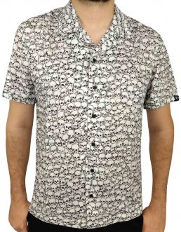 Camisa Cavalera Masculina Manga Curta Caveiras