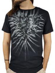 Camiseta Cavalera Manga Curta Aguia Preta