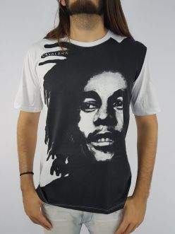 Camiseta Cavalera Masculina Bob Marley Manga Curta