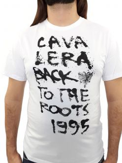 Camiseta Cavalera Masculina Back Roots Branca