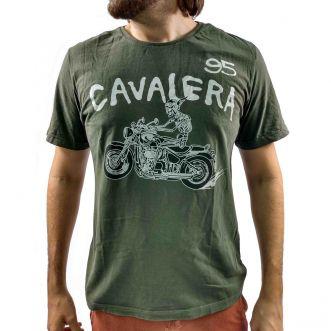 Camiseta Cavalera Masculina Caveira Moto