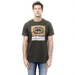 Camiseta Ecko Masculina Logo Verde