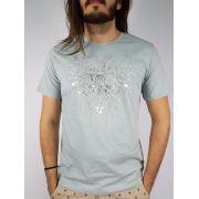 Camiseta Cavalera Masculina Manga Curta Aguia Cinza