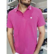 Camiseta Polo Cavalera Piquet Frisos Masculino