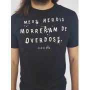 Camiseta Masculina Cavalera Preta Estampada Overdose