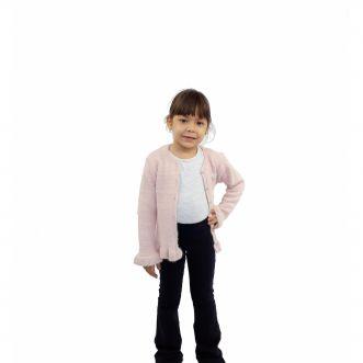 Casaco Milon Feminino Infantil Pelos Rosa
