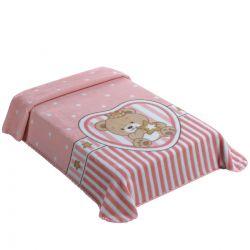 Cobertor Colibri Superstar Le Petit Raschel King Rosa