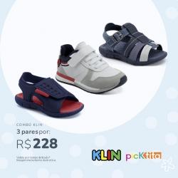 Combo Casual Klin 2 Sandálias + 1 Tenis: De R$253 Por apenas R$228