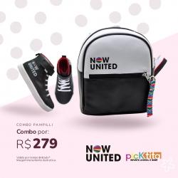 Combo Uniters: 1 Coturno Médio Now United + 1 Mochila Fan Uniter - De R$302,80 Por apenas R$279,90