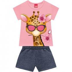 Conjunto Kyly Feminino Bebê Minha Girafinha