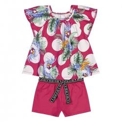 Conjunto Nanai Feminino Infantil Tropical
