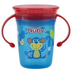 Copo Nuby 360 Decorado com Alça 240ml