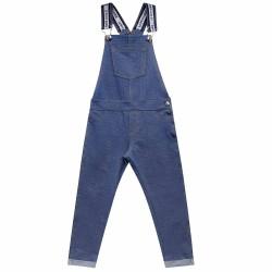 Jardineira Kukie Feminina Infantil Jeans Azul