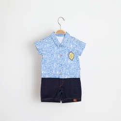Macacão Camisa Kiko Baby Masculina Feira