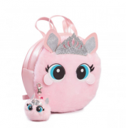 Mochila Infantil Pampili Princess Dot Rosa Glace