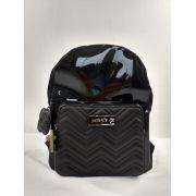 Mochila Petite Jolie Preta Kit Bag  PJ3956