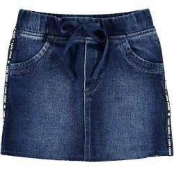 Saia Look Jeans  Feminina Curta