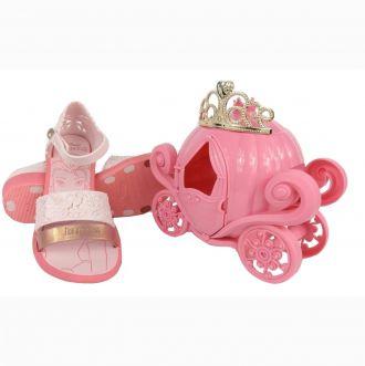 Sandália Grendene Princesas Fairytale Rosa