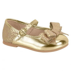 Sapatilha Molekinha Infantil Premium Dourada