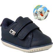 Sapato Klin Infantil Menino Azul Tenis Anjinho