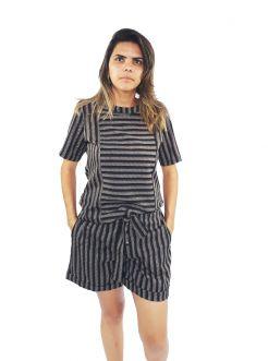 Short Feminino Listrado Mania Nacional