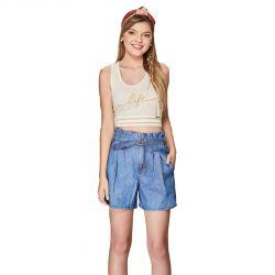 Short Karapalida Feminino Jeans Azul