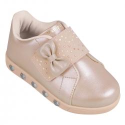 Tenis Pampili Feminino Infantil Sneaker Luz Frappe