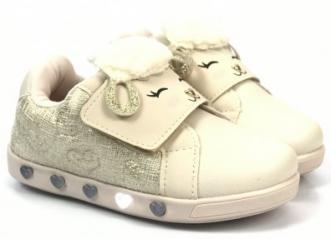 Tênis Pampili Ovelha Velcro Led Toddler