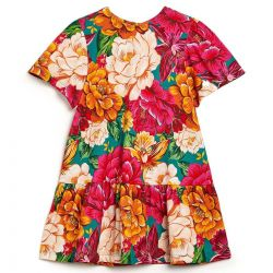 Vestido Fábula Feminino Infantil Flor Curto