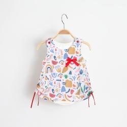 Vestido Kiko Baby Feminino Franzido Milhazes