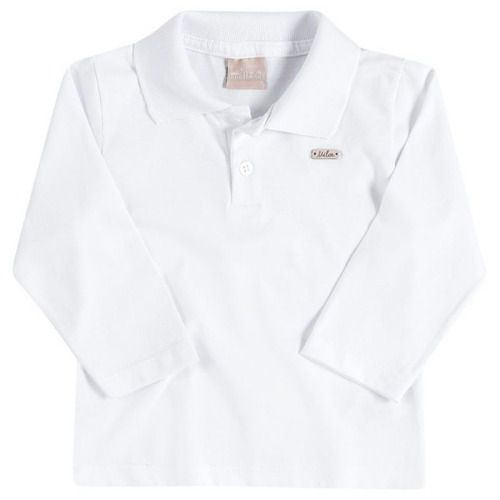 e04009584 Camiseta Infantil Masculina Milon Manga Longa Azul ou Branca