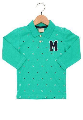 Camisa Milon Polo Menino Verde