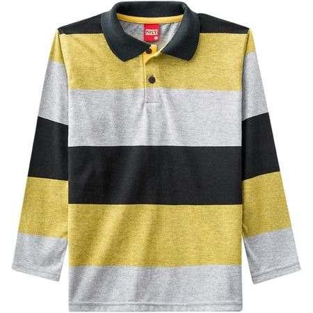 5f68df53f2 Camisa Polo Infantil Masculina Kyly Meia Malha