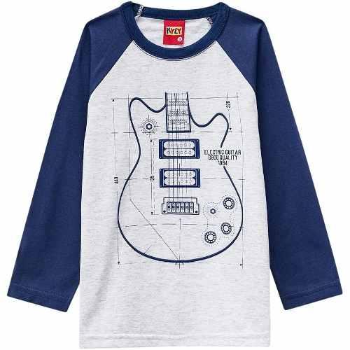 f152f4c3ad Camiseta Infantil Menino KylyManga Longa Meia Malha - Loja Pick Tita ...