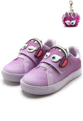 bd004c0c64b Tenis Pampili Lola Infantil Feminino lilas moderno e fashion