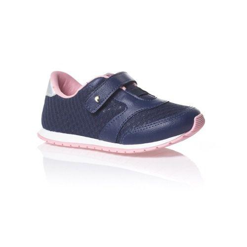 8fa565103 Tênis Pampili Mini Joy Marinho Menina Infantil Fashion