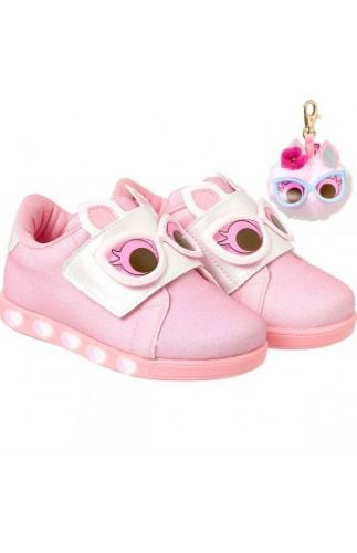 Tênis Infantil Pampili Sneaker Luz Dots Rosa Chiclete