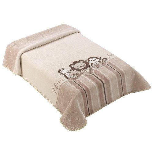 Cobertor Para Berço Colibri Bebe Estampado