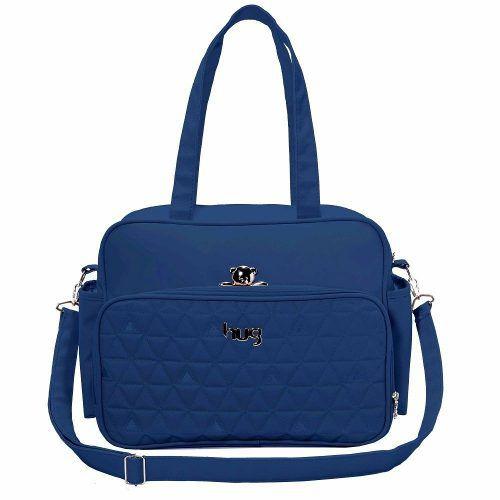Bolsa Hug Maternidade Docinho G Azul
