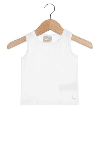 Blusa Milon Infantil Menina Branca