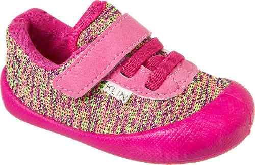 69931b6692 Tenis Infantil Feminino Klin Confort Plus Rosa com Velcro