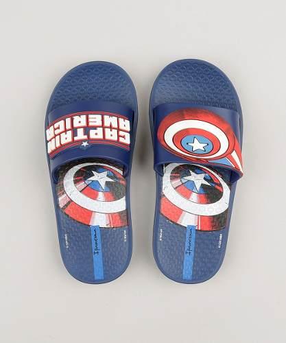 Chinelo Ipanema Avengers Slide Infantil