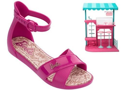 Sandalia Infantil Barbie Confeitaria Grendene