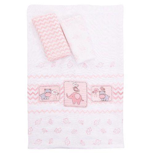 Kit Fraldas Baby Amiguinhos Rosa Colibri Bebe