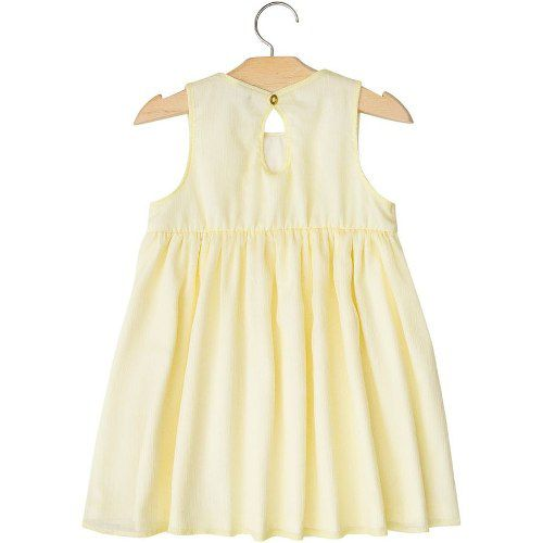 Vestido Milon Feminino Infantil Amarelo