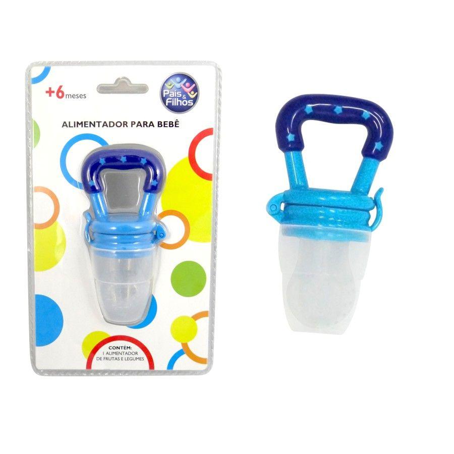 Alimentador de Silicone Pais e Filhos Azul